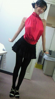 真っ赤なドレス