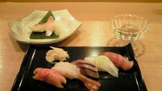 シャンパンとお寿司