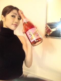 ピンクのシャンパン♪