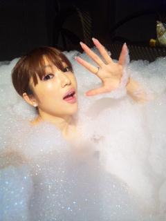 泡のお風呂大好き!