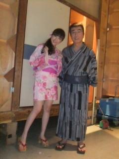 志村さんと浴衣で記念撮影♪