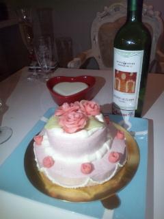 手作り☆薔薇のケーキ