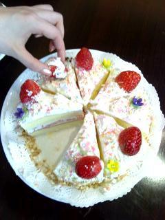 出来上がったショートケーキ